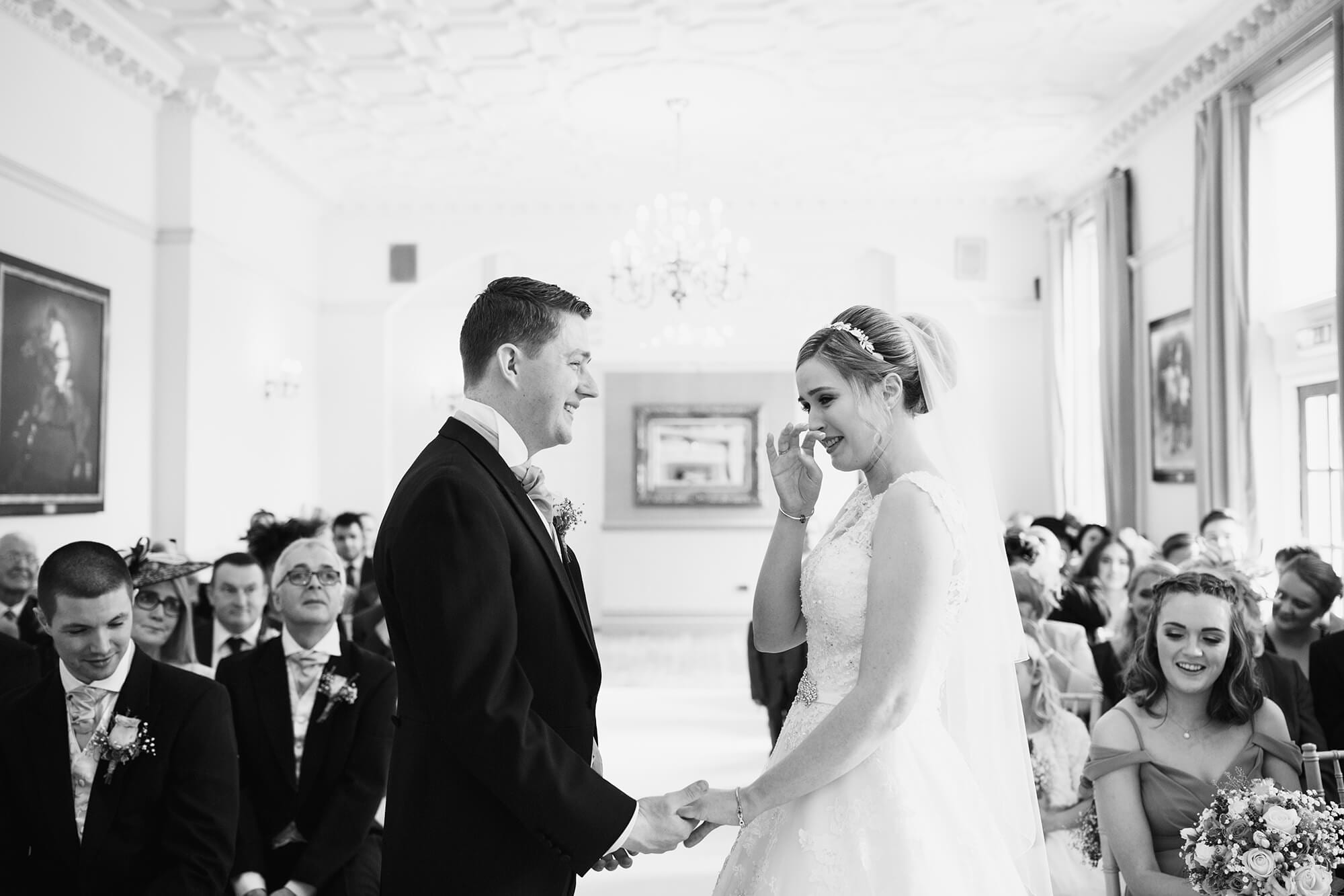 wedding ceremony at nunsmere hall