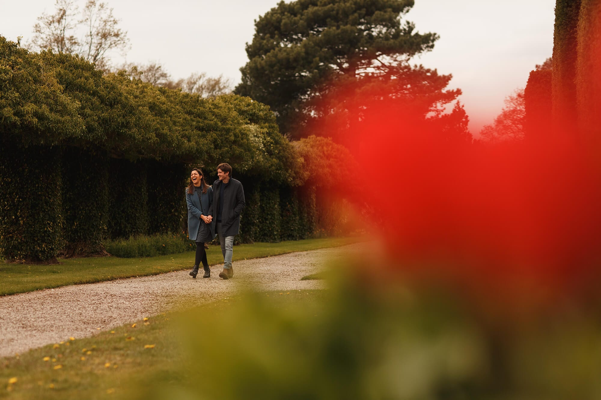 pre wedding shoot in Thornton manor grounds