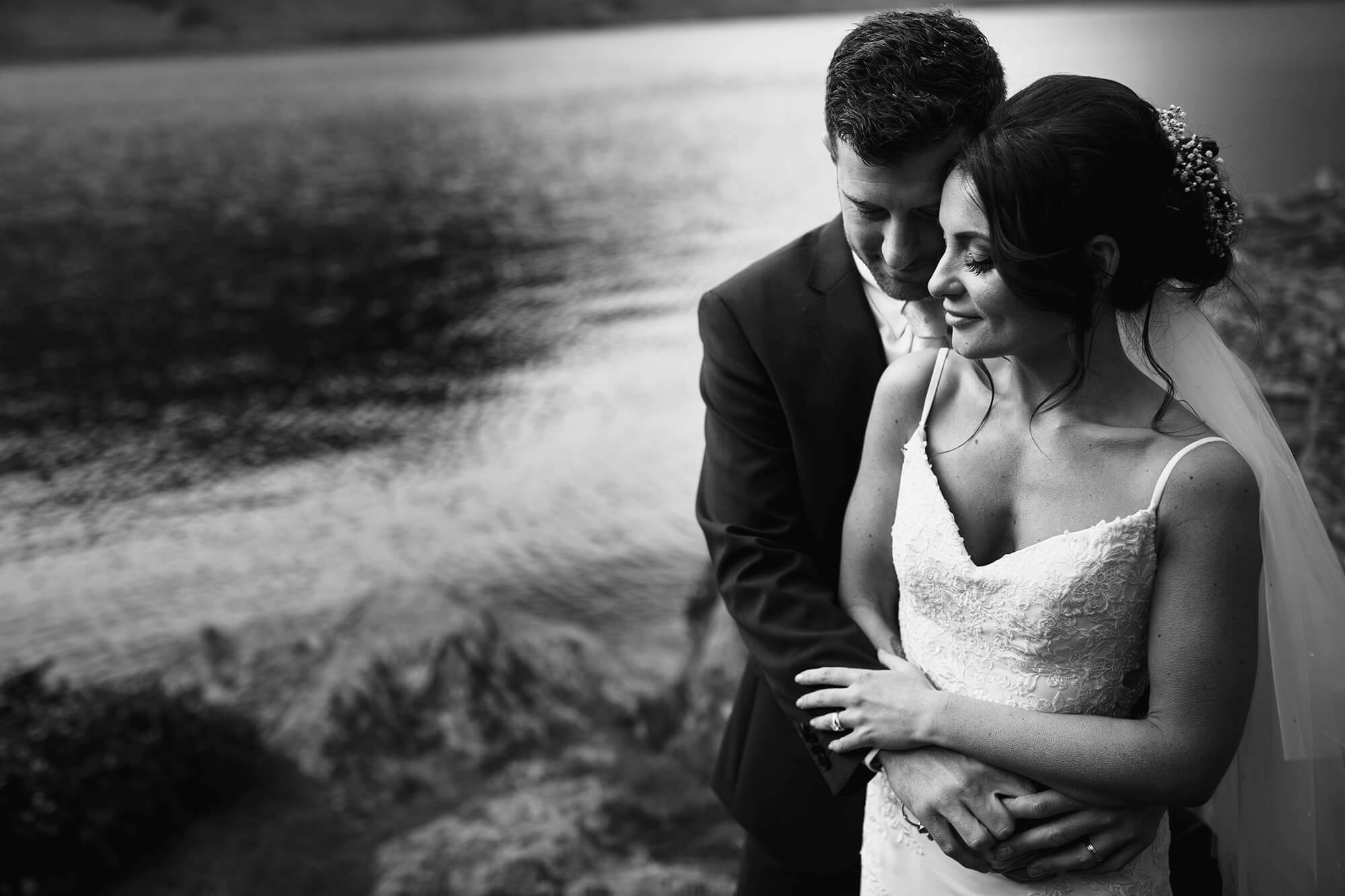 bride and Groom together Lake District Wedding Photography