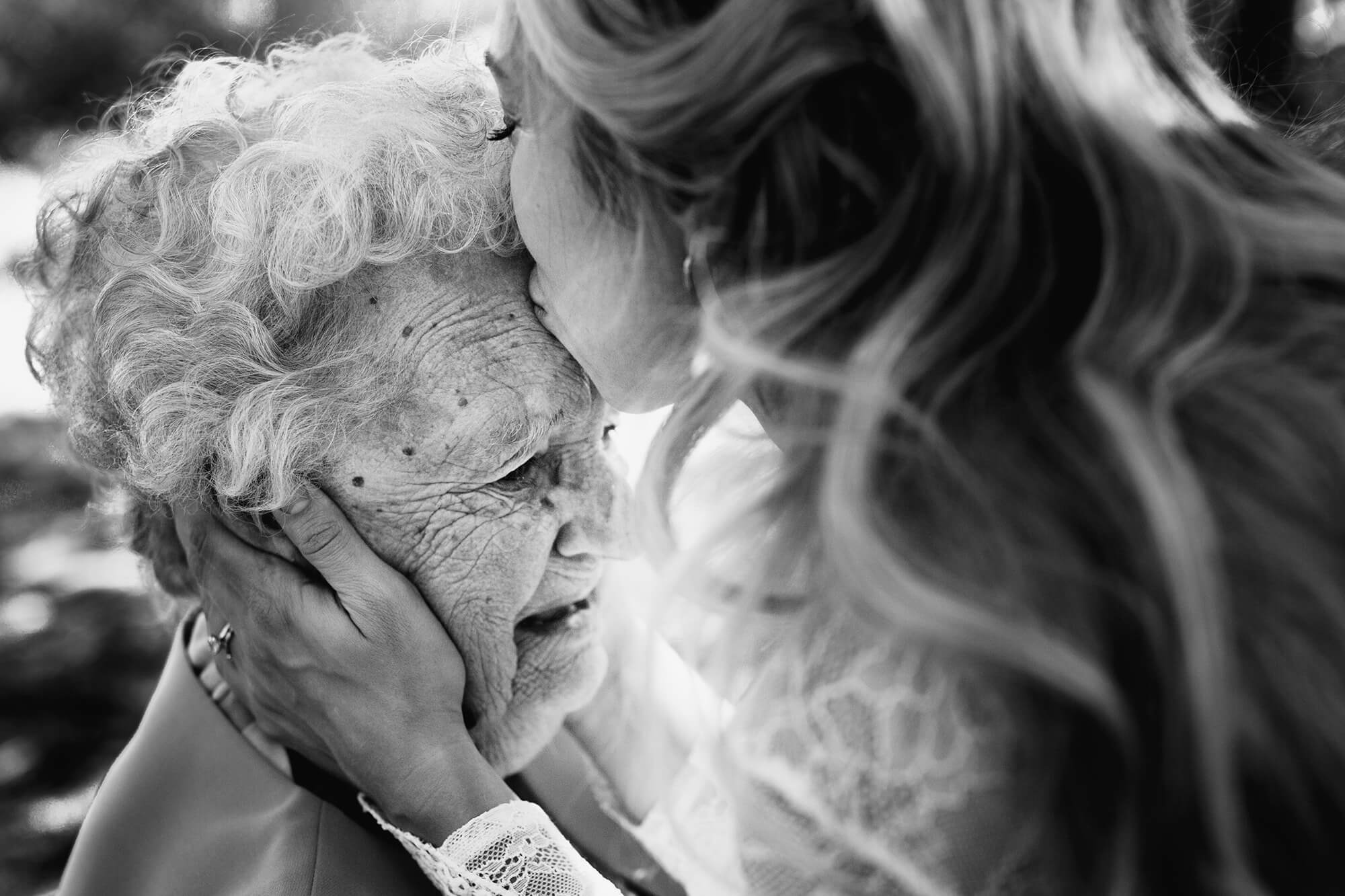 Bride with Grandmother South of France wedding