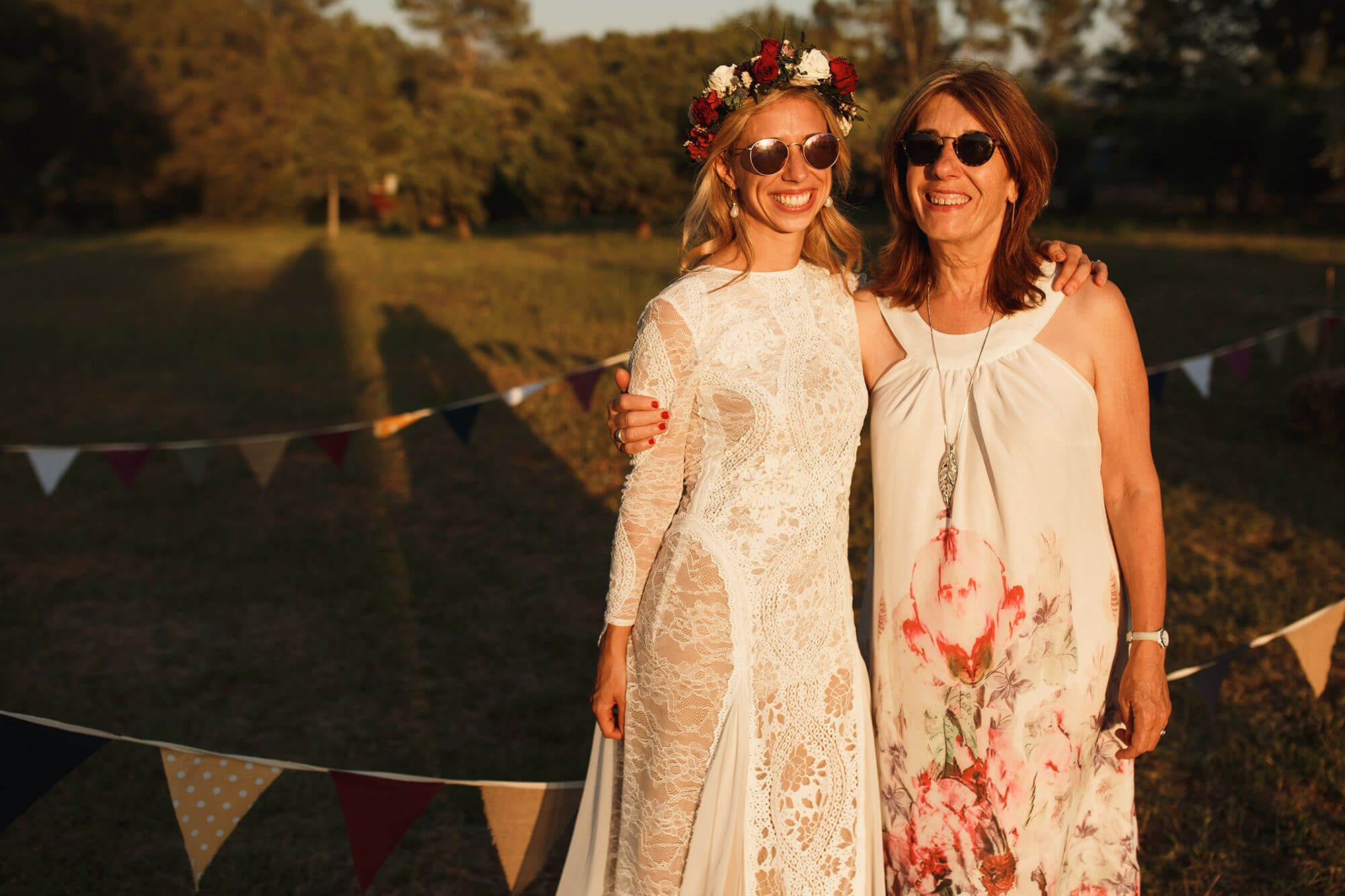 Bride and mother of groom France wedding photography