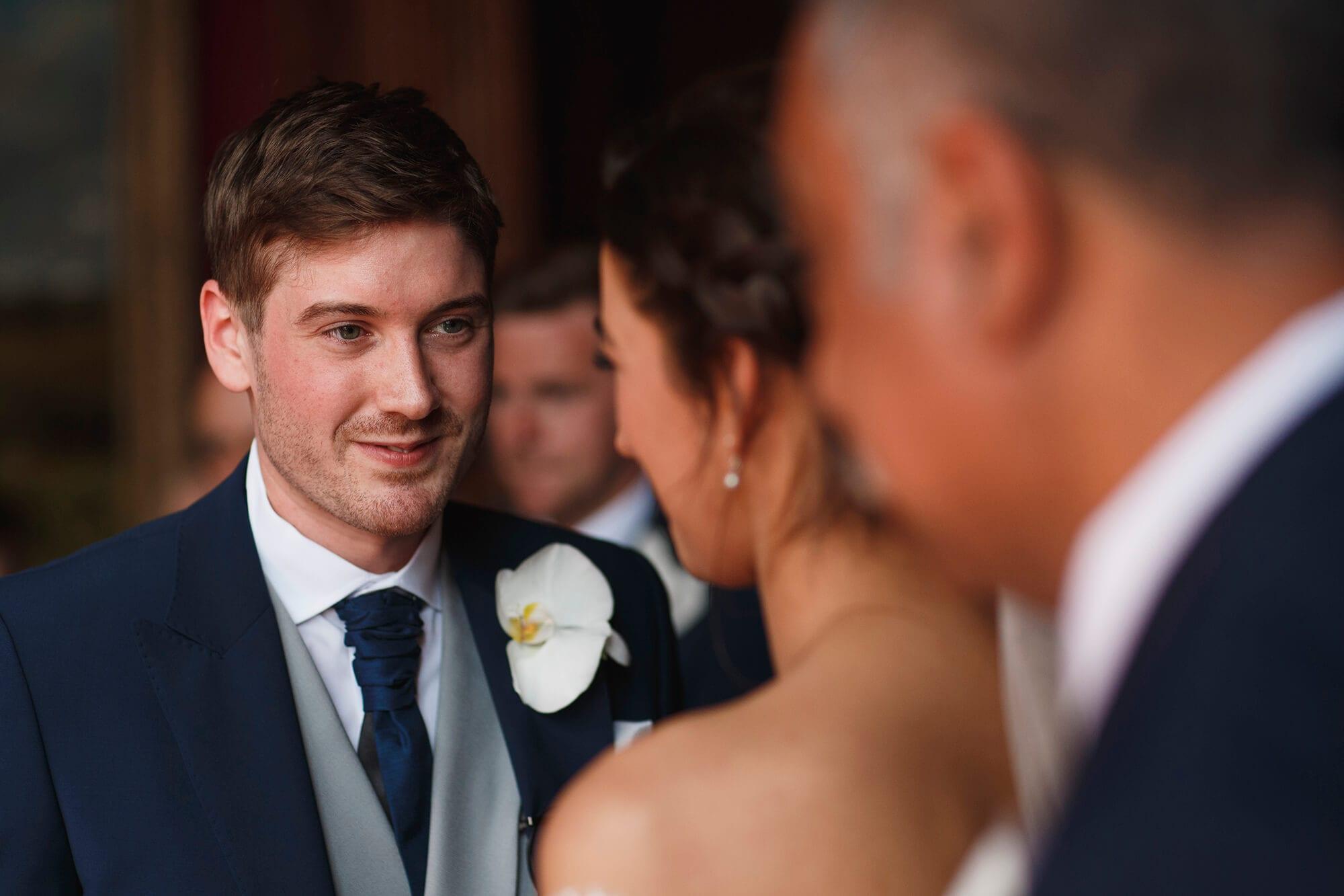 gazing at each other Thornton wedding