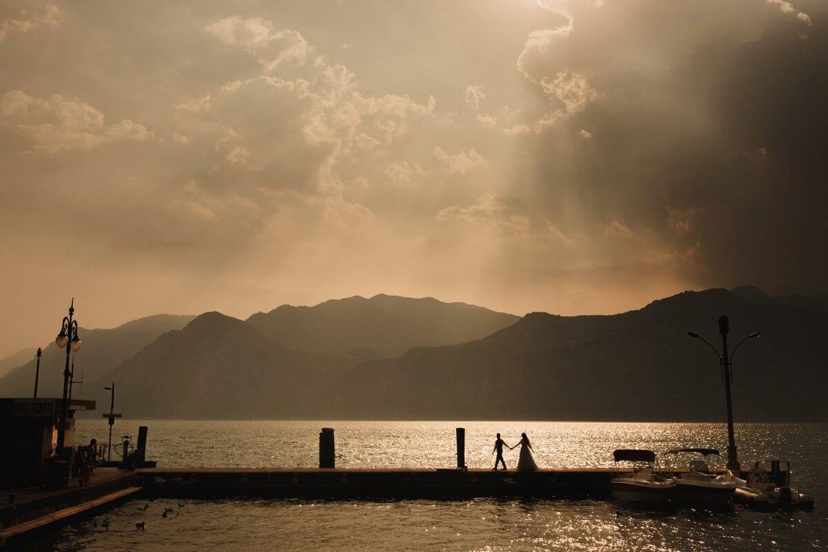beautiful wedding on lake Garda