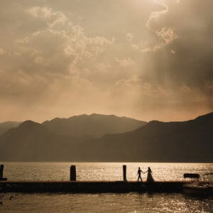 beautiful wedding on lake Garda