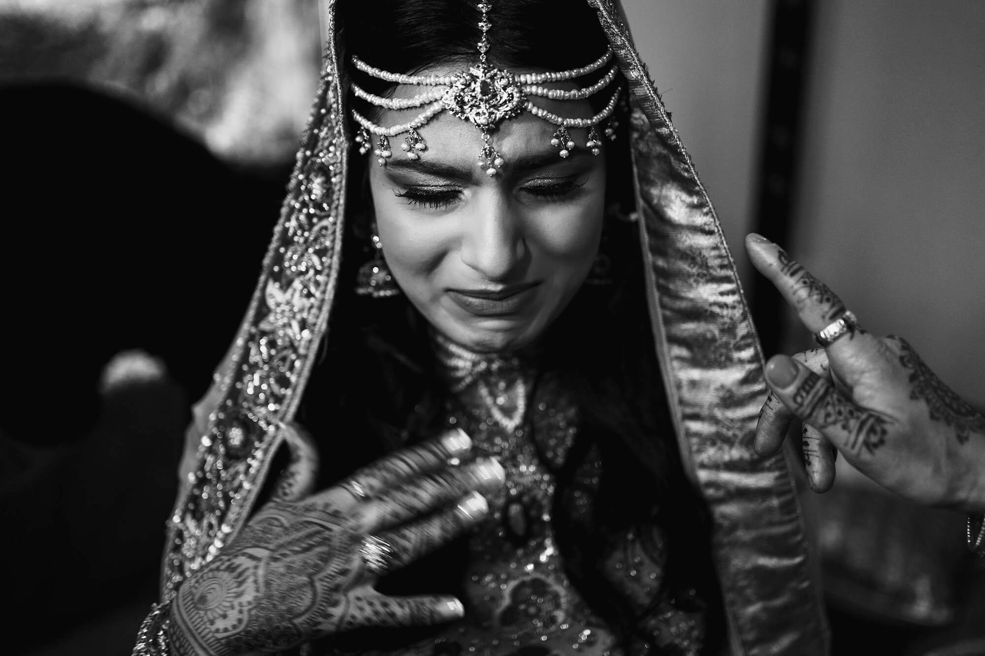 Emotional Bride At Asian Wedding