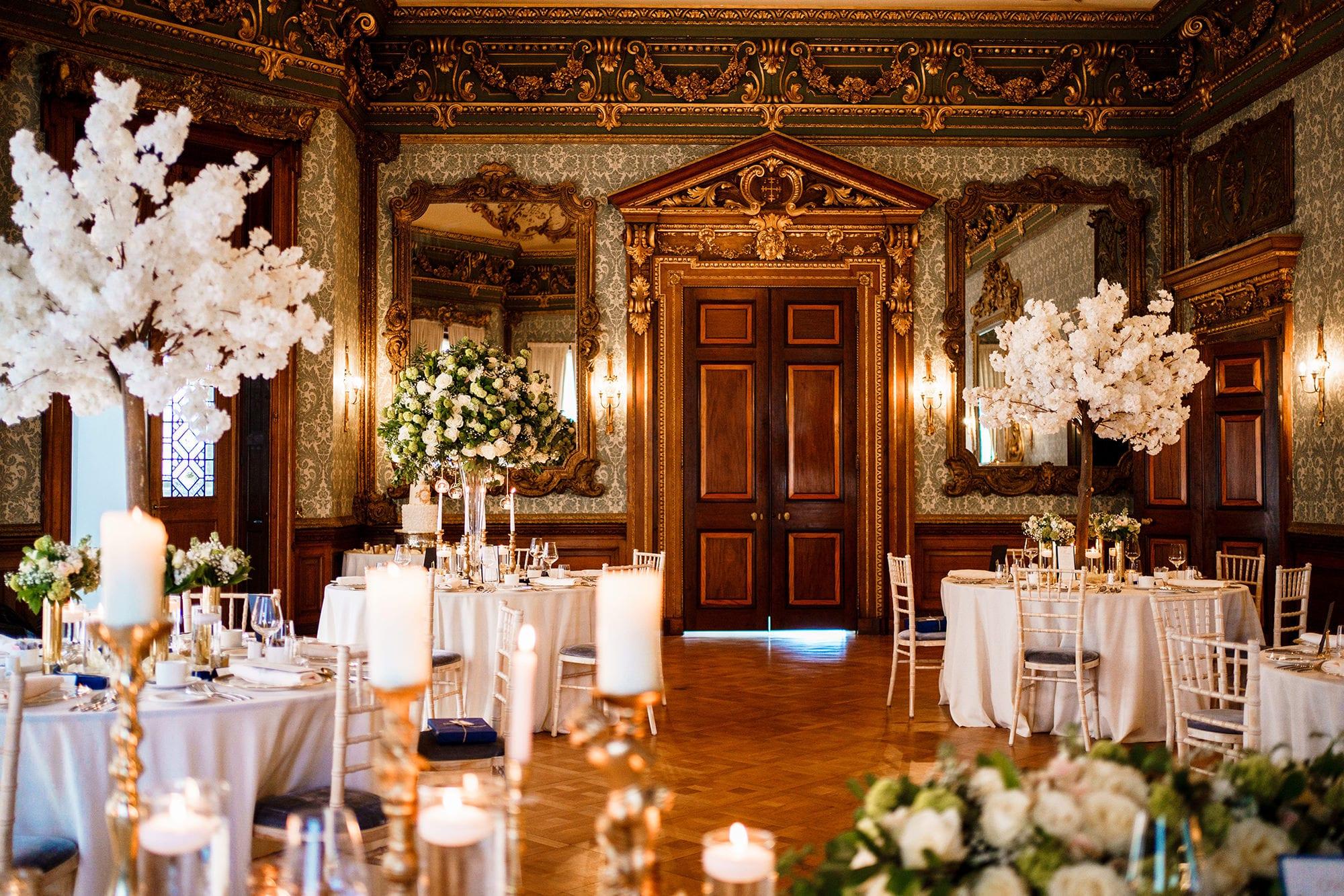 Hawkstone Hall Wedding Reception